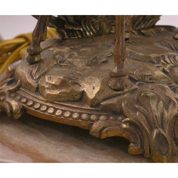 Figural Bronze table lamp For Sale In Los Angeles - Image 6 of 8