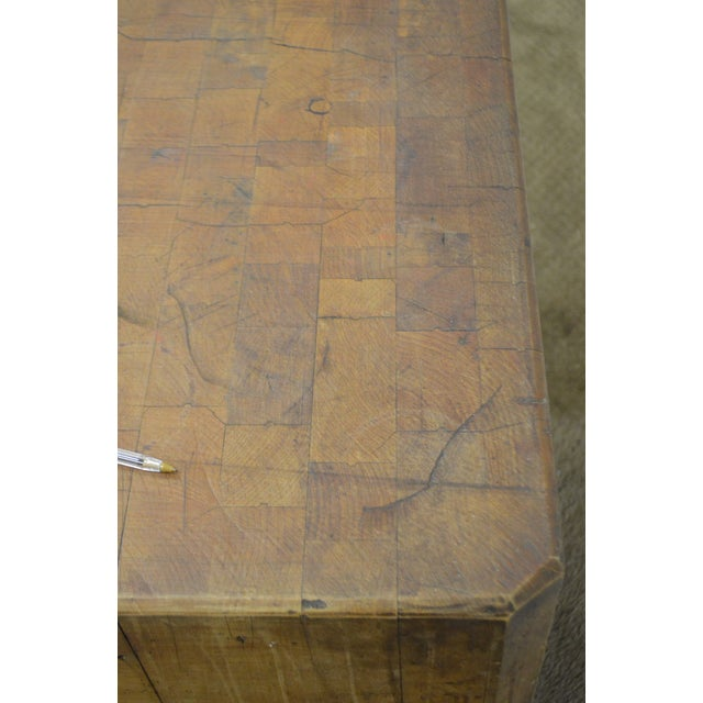 Vintage Antique Maple Butcher Block Table by Bally Block Co. For Sale In Philadelphia - Image 6 of 10