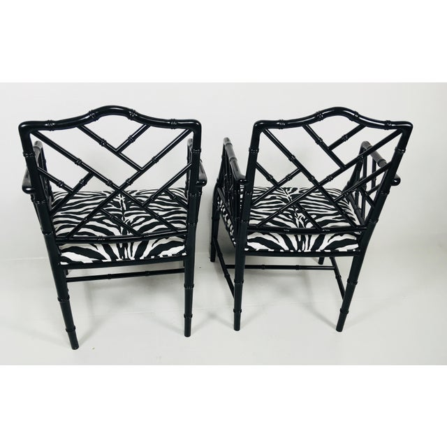 1970s Chinese Chippendale Style Side Chairs – a Pair For Sale In Philadelphia - Image 6 of 8