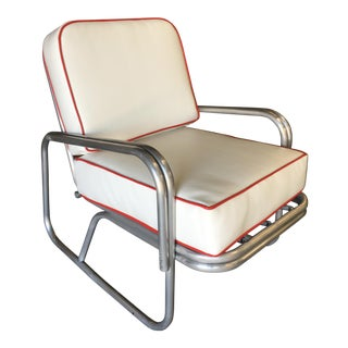 Mid Century Aluminum Patio/Outdoor Lounge Chair For Sale