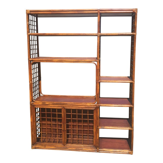 Vintage boho chic bamboo etagere chairish for Etagere campagne chic
