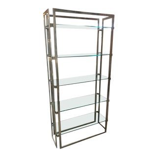 Willy Rizzo Vintage Chrome Bookcase, Italy, 1970s For Sale