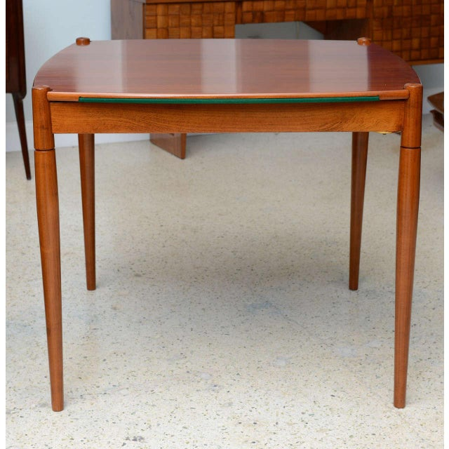 Green Italian Modern Walnut Game Table by Gio Ponti for Singer & Sons For Sale - Image 8 of 11