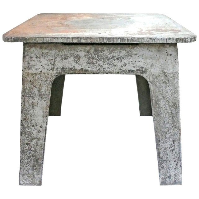 Steel Industrial Side Table For Sale In Los Angeles - Image 6 of 6