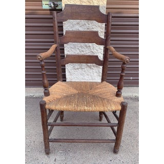 Early 19th Century French Ash Wood Rush Seat Armchair Preview