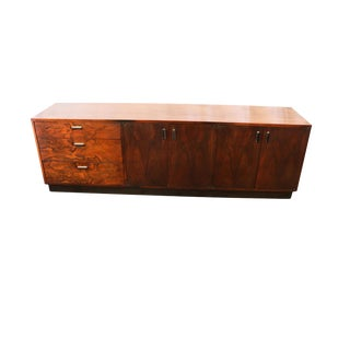 Mid Century Rosewood Sideboard Milo Baughman Style For Sale