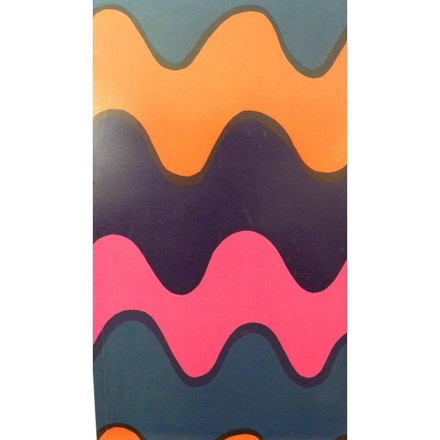Vintage Marimekko Stretched Fabric Wall Hanging Print | Chairish