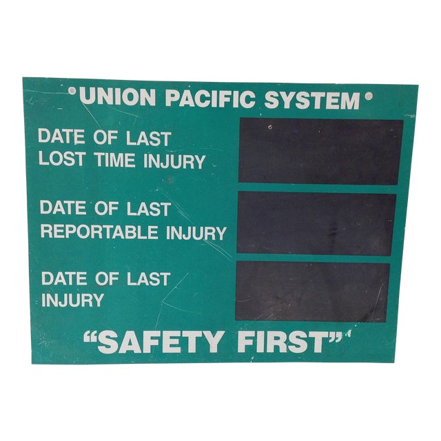 Union Pacific System Shop Sign For Sale