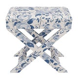 Image of X Bench in Delft Chintz For Sale