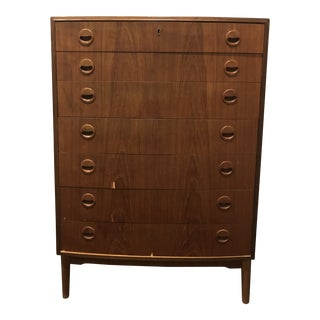1950s Danish Modern Kai Kristiansen Highboy Dresser For Sale