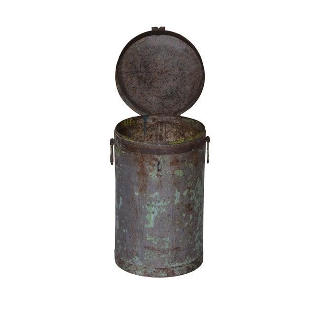 Rustic Antique Iron Maarten Pot For Sale - Image 3 of 5