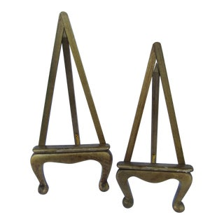 Small Florentine Style Wood Easels- Pair