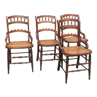 Victorian Hole Cane Chairs - Set of 4