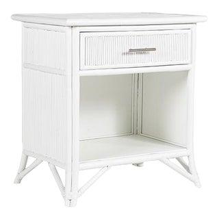 Aruba One-Drawer Nightstand - White For Sale