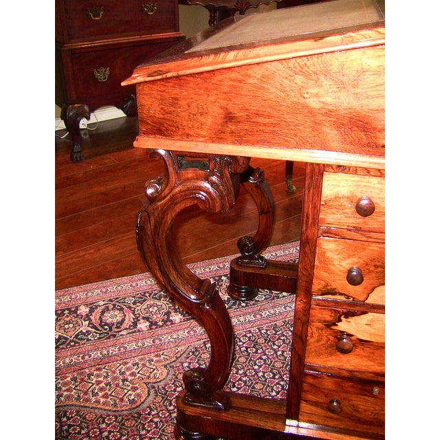 Mid 19th Century Early 19c British Davenport Desk in the Manner of Gillows For Sale - Image 5 of 13