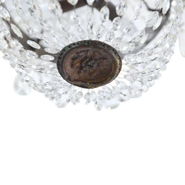 Late 19th Century Petite Italian Crystal Chandelier For Sale - Image 5 of 10