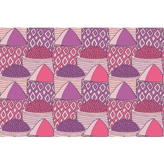Spice Market Strawberry Linen Cotton Fabric, 3 Yards For Sale