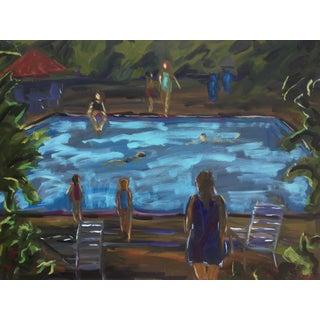 "Guerin Oil on Canvas, ""Moonlight Swim"", 40 X 30 In. For Sale"