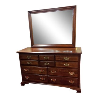 Kling Furniture Cherry Dresser With Mirror For Sale