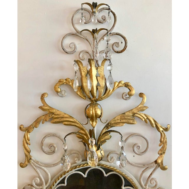 1950s Large Pair Mid Century Italian Sconces For Sale - Image 5 of 13