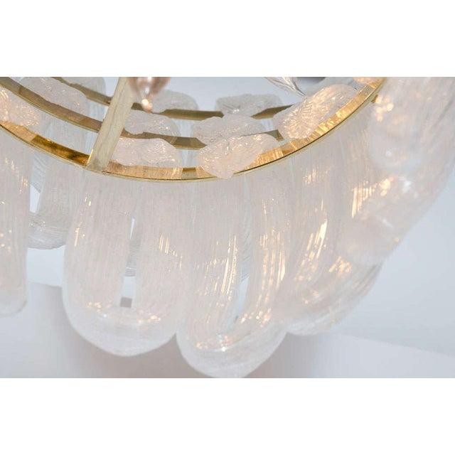 Blown Glass Hand Blown Glass Loop Chandelier after Barovier & Toso For Sale - Image 7 of 10