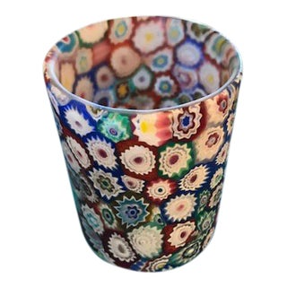 Millefiori Glass Candleholder For Sale