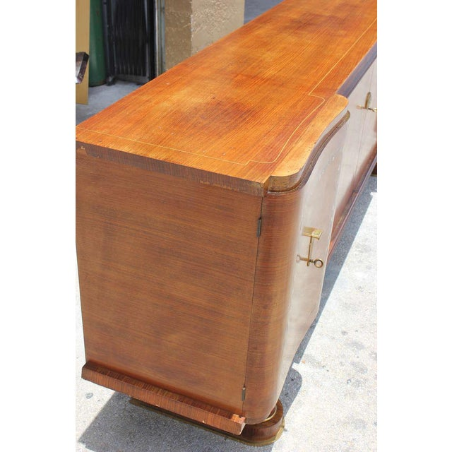 1940s French Art Deco Jules Leleu Style Rosewood M-O-P Sideboard / Buffet For Sale - Image 10 of 10