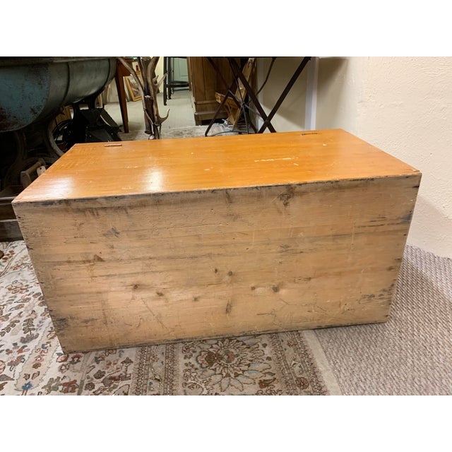 1920s Art Deco Pine Trunk For Sale - Image 12 of 13
