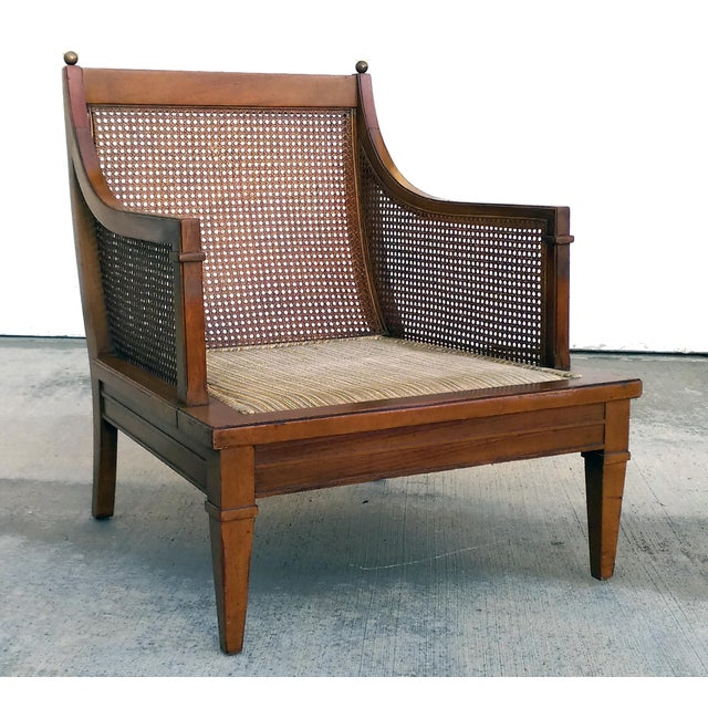 Vintage Mid Century Cane Back Lounge Chair - Image 4 of 8