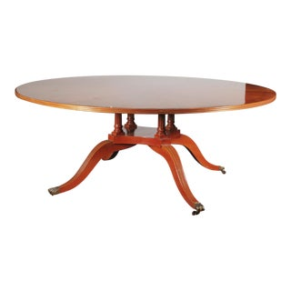 Large Regency Round Mahogany Dining / Center Table For Sale