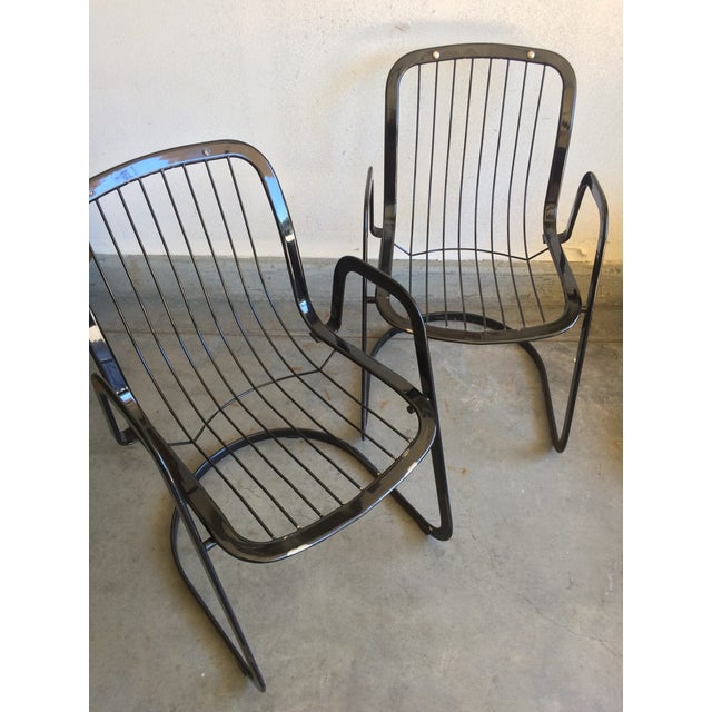 Willy Rizzo Willy Rizzo Cidue Italian Retro Mod Chairs - A Pair For Sale - Image 4 of 7