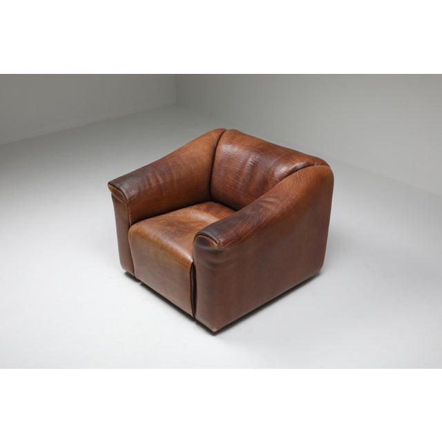 Leather 1970s De Sede Ds 47 Brown Leather Armchair For Sale - Image 7 of 10