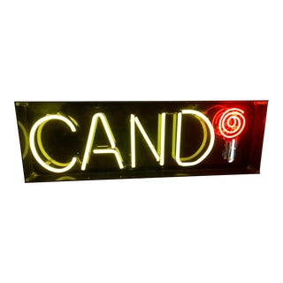 "Custom Vintage Neon ""Candy"" Sign For Sale"