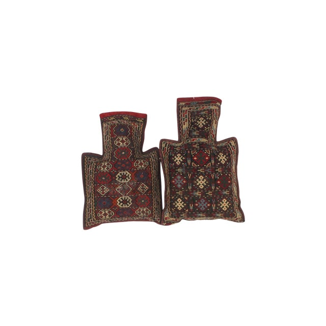 Pillows with Antique Soumak Rug Fragment - Image 1 of 3