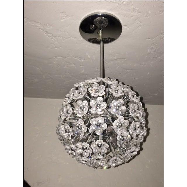 Crystal Flower Sphere Pendant Light - Image 2 of 4