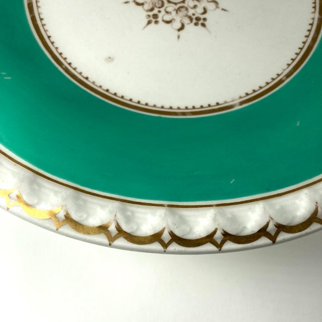 19th-Century English Porcelain Tazzas - a Pair For Sale - Image 4 of 6