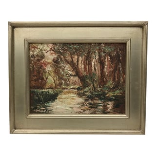 Vintage Continental Oil Painting For Sale