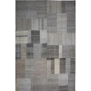"""Hand Knotted Patchwork Kilim - 13'0"""" x 9'10"""" For Sale"""