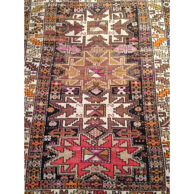 "Funky 1920s Russian Area Rug, 3'6"" X 4'9"" - Image 10 of 10"