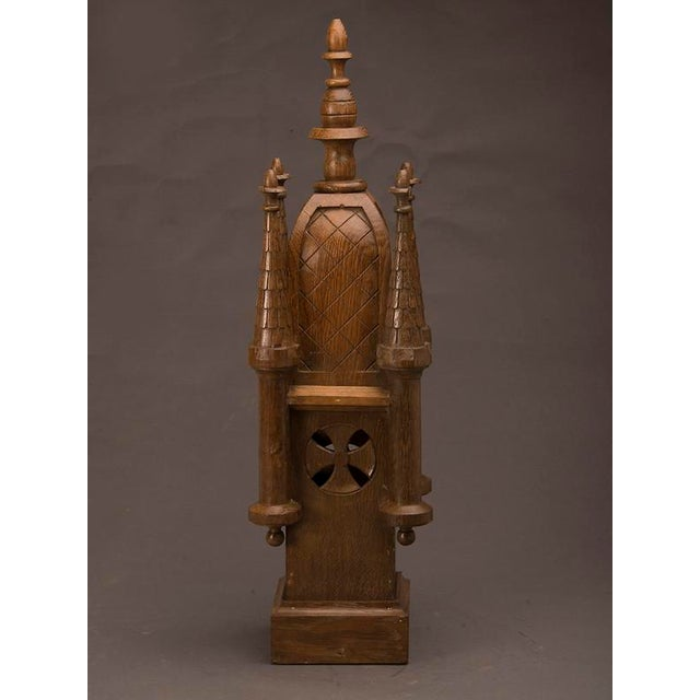 Gothic 19th Century Wood Carved Small Scale Medieval Tower Model For Sale - Image 3 of 6
