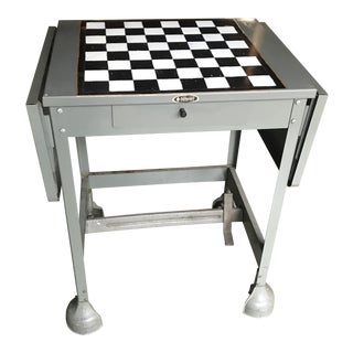 Chess-Top Industrial Typing Table For Sale