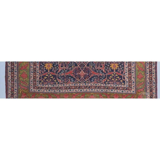 Traditional Oversized Blue Ground Garrus Bijar Carpet For Sale - Image 3 of 4