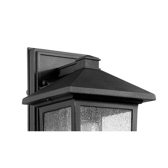 The Carriage House 1 light outdoor sconce is a classic design with chic updated matte black finish Takes 100W bulb. - Made...