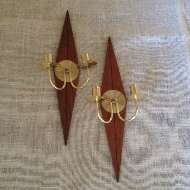 Mid-Century Wood & Metal Wall Sconces - A Pair - Image 11 of 11