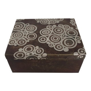 1930s Antique French Art Deco Dinanderie Box For Sale