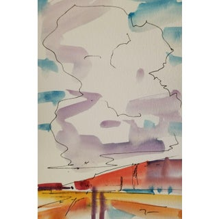 Jose Trujillo Artist Collectible Original Watercolor Painting Study Small For Sale