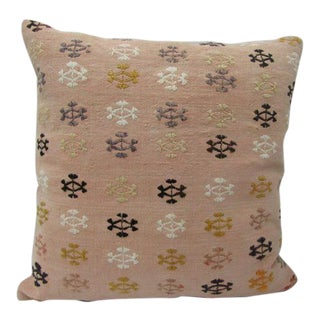 Embroidered Turkish Kilim Pillow For Sale