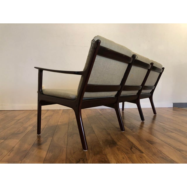 Wood Vintage Mid Century Modern Sofa by Ole Wanscher for Poul Jeppesen For Sale - Image 7 of 13
