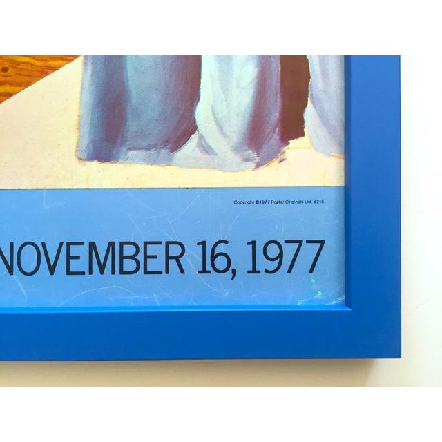 "David Hockney Vintage 1977 Lithograph Print Framed Pop Art Exhibition Poster "" Self Portrait With Blue Guitar "" For Sale - Image 12 of 13"