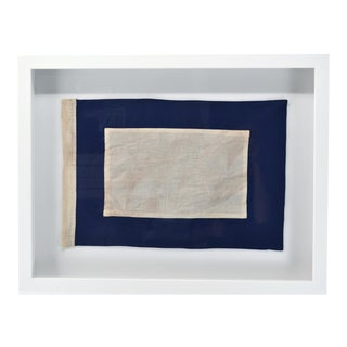 """P"" Signal Flag Framed in Shadow Box Frame For Sale"
